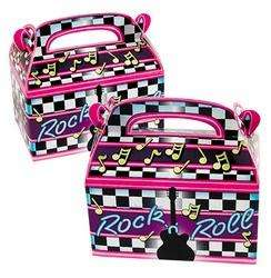 Rock N Roll Treat Box Bag STAR Birthday Party Favor