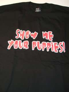 WWE DIVA ~Show Me Your Puppies~ DEBRA T shirt XL