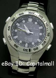 WORLDTIME PRO 1/1000s CHRONO ALARM CAL HARDLEX 100M MENS WATCH SNJ013P