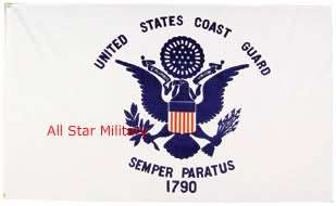 US Coast Guard Military Flag Banner Wall Art Gift 2x3