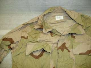Original desert Storm Camo hot weather shirt small regular BDU