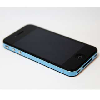 iPhone 4 Decal Wrap Vinyl Skin Sticker   Blue