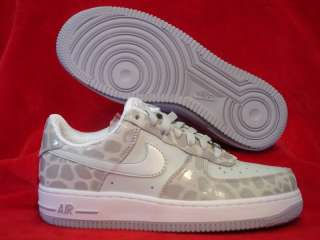 NIKE WMNS AIR FORCE 1 PREMIUM 07 GREY WHITE SHOES NEW