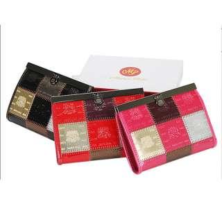 Women Leather Luxury patch Wallet Purse COFFEE mp 3000