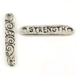 24mm Green Girl Strength Pewter Links Arts, Crafts