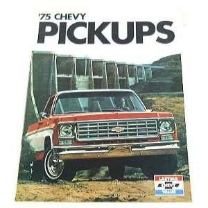 1975 75 Chevrolet CHEVY PICKUP TRUCK BROCHURE C10 K20