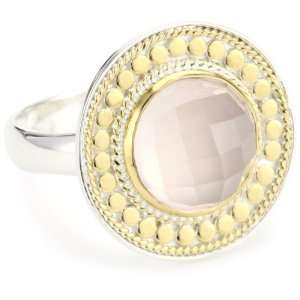 Anna Beck Designs Gili Rose Quartz Disk Ring, Size 8