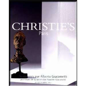 CHRISTIES AUCTION CATALOG , TITLED SCULPTURES PAR ALBERTO GIACOMETTI