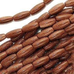 Goldstone 5 x 12mm Tapered Tube Barrel Beads /15 Inch