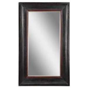 Gower Distressed Black Mirror 46x76x3