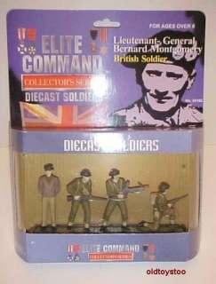 GRAL. MONTGOMERY 4 SOLDIER DIECAST SET BLUE BOX MIB