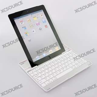 Aluminum Cover Case Bluetooth Wireless KeyBoard Dock Stand for Apple