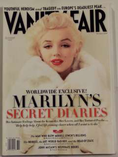 VANITY FAIR Exclusive MARILYN MONROE Secret Diaries NOV
