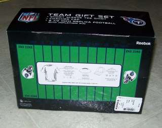 NFL Team Gift Set YOUTH/BOYS L T Shirt + Hat + Football REEBOK