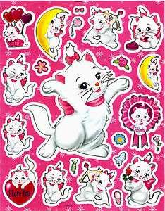 Aristocat Marie Cat Sticker LS019 I love you Valentine