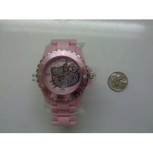 Licensed Hello Kitty PINK Wrist Watch   SILVER FACE