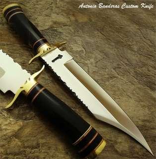 Antonio Banderas MARVELOUS 1 OF A KIND CUSTOM BOWIE KNIFE  BULL HORN