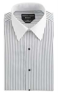 Mens Andrew Fezza White w/ Black Stripe Shirt All Sizes