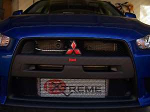 Mitsubishi Lancer Front & Rear emblem Decal overlays