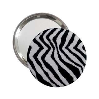 Zebra Wild Animal Print Mirror for Handbag Purse Desk Backpack Bag