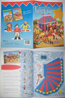 PAPER MODEL, CIRCUS, animals clown paper dolls, ESTONIA