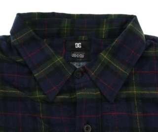 New DC SHOES Blue Mens Flannel L/S Shirt #020 size M, L, XL