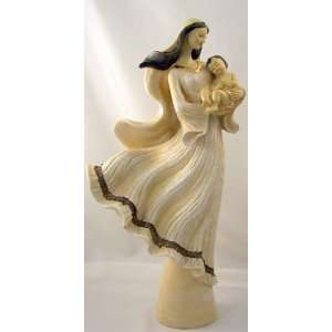 Virgin Mary W/ Baby Jesus 17 Tall Figurine Catholic Statue Sculpture