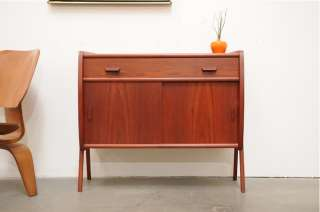 Danish Modern TEAK Entry Chest Table Micro Credenza Mid Century Eames
