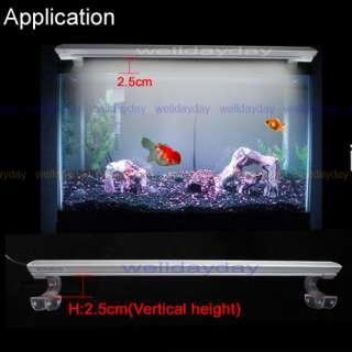Fish Tank Overhead Clip Lamp 50CM/20 144 LED White Light Aquarium
