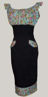 Mexican sugar skull gypsy dress 50s rockabilly 8 18