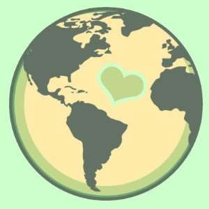 Love the Planet Earth Day Buttons: Everything Else