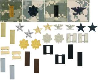 US ARMY COMMISSIONED OFFICER RANK INSIGNIAS