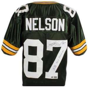 Jordy Nelson Signed Packers Jersey w/ SB XLV Champs   SM