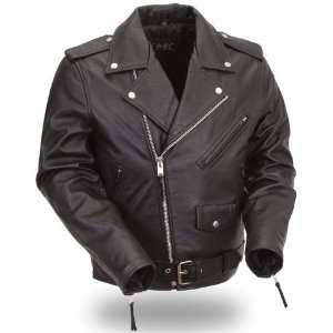 Classic Motorcycle Leather Jacket. Back to the 50s Styling. FMM 200