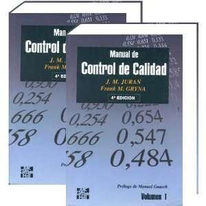 Juran, Manual De Control De Calidad, 2 T. J. M. Juran Books