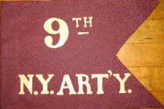 9th New York Artillery Regiment Flank Flag