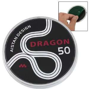 Amico Car Round Shaped Red Dragon Word Print 3D Emblem