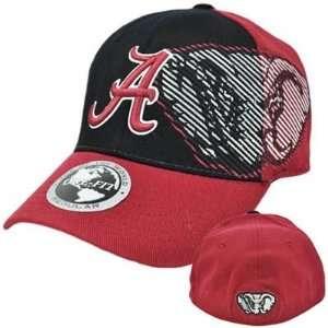NCAA Alabama Bama Crimson Tide Top of World Black Red Flex