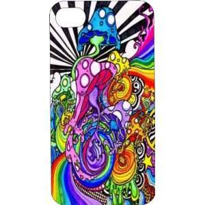 White Silicone Rubber Case Custom Designed Trippy iPhone