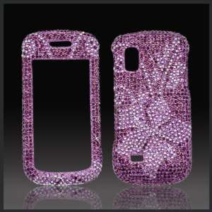 Lilac Flower Cristalina crystal bling case cover for Samsung A887