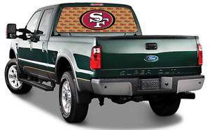 San Francisco 49ers By IGX  NFL Truck Rear Window Decal