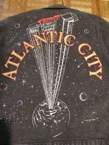 Tony Alamo TRUMP PLAZA ATLANTIC CITY Denim Jean Jacket Sz Medium Vtg