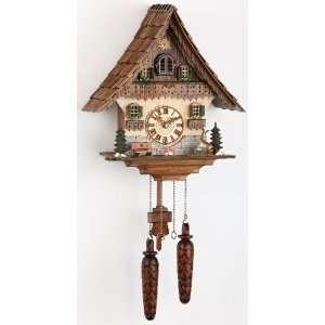 Quartz Cuckoo Clock Black forest house, incl. batteries TU