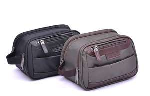 Leather Toiletry Kit Bag Shaving Travel Bag Cosmetic Organzier Case