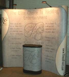 CURVED FULL GRAPHICS TRADE SHOW POP UP DISPLAYS