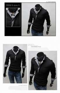 Polo Shirt Slim Casual Shirt Long sleeved T shirt Cotton B04