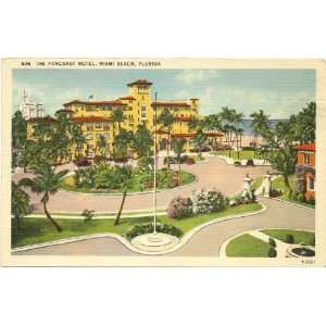 1940s Vintage Postcard The Pancoast Hotel   Miami Beach