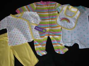NWT CARTERS BABY 5PC LAYETTE SET 0 3 MONTHS GIFT