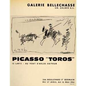 Toros Bulls Galerie Bellechasse 1961   Original Print