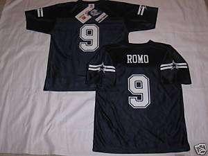 Dallas Cowboys TONY ROMO Youth Boys Jersey Navy Blue~L